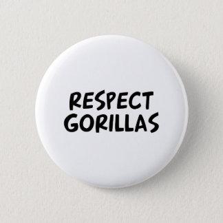 Respect Gorillas 2 Inch Round Button