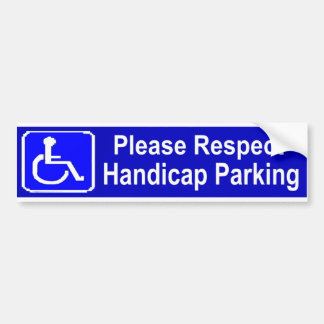 Respect Handicap Parking Bumper Sticker