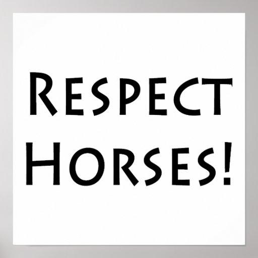 Respect Horses Poster