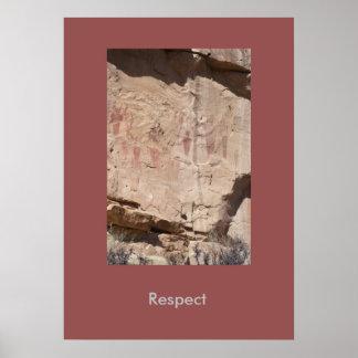 Respect Inspirational Landscape Poster
