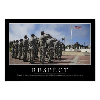 Respect: Inspirational Quote 2 Poster