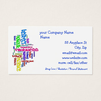 Respect, Kindness, Trust... Virtues word art Business Card
