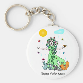 Respect Mother Nature Keychain