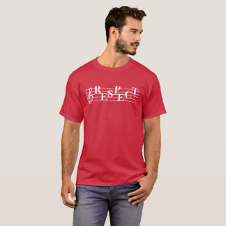 """Respect"" Music Measure Design Men's T-Shirt"