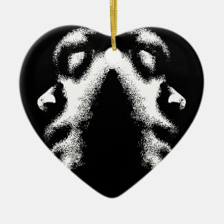 Respect My Life Peace Love Ceramic Heart Ornament