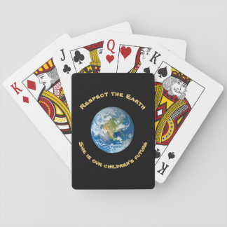Respect Planet Earth Playing Cards