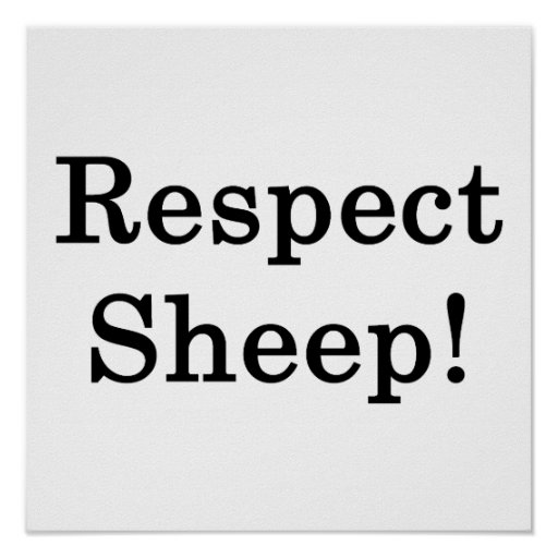 Respect Sheep Print