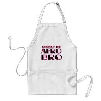 RESPECT THE AFRO Bro- PNK BLK Standard Apron