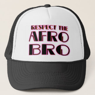 RESPECT THE AFRO Bro- PNK BLK Trucker Hat