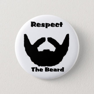 respect the beard 2 inch round button