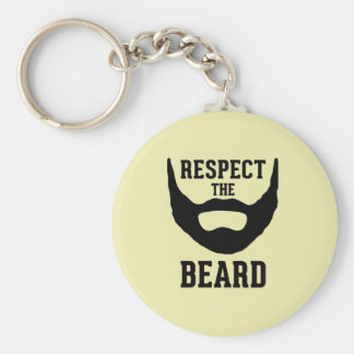 Respect The Beard Basic Round Button Keychain