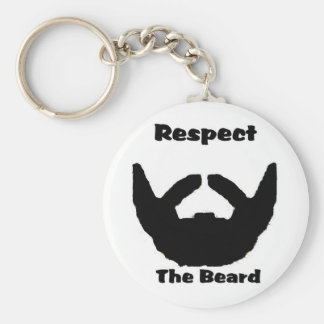 respect the beard basic round button keychain