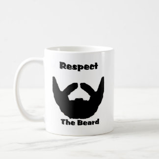 respect the beard coffee mug