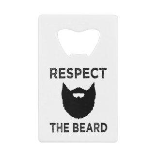 Respect the Beard funny bottle opener Wallet Bottle Opener