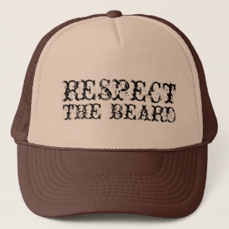 Respect the beard trucker hat for men