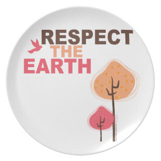Respect the Earth Dinner Plates