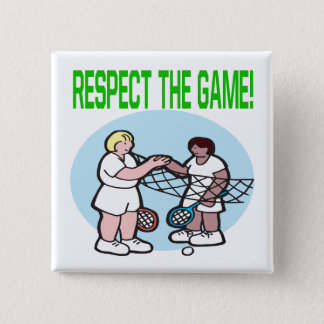 Respect The Game 2 Inch Square Button