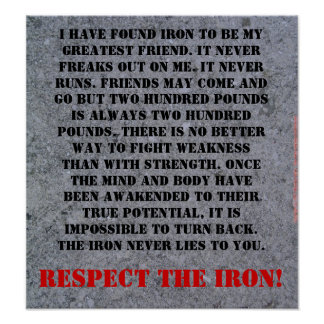 Respect The Iron Poster
