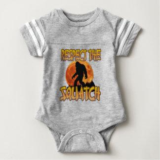 Respect The Squatch Baby Bodysuit