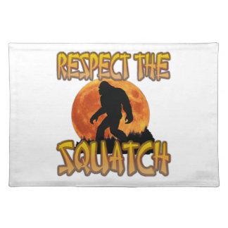 Respect The Squatch Place Mat