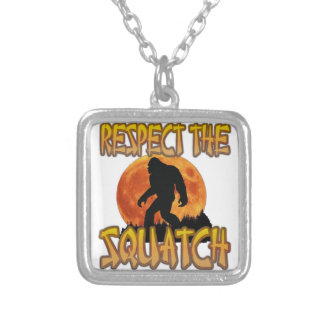 Respect The Squatch Silver Plated Necklace