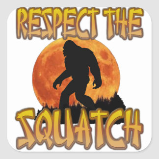 Respect The Squatch Square Sticker