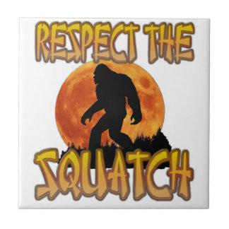Respect The Squatch Tile