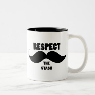 Respect the Stash Two-Tone Coffee Mug