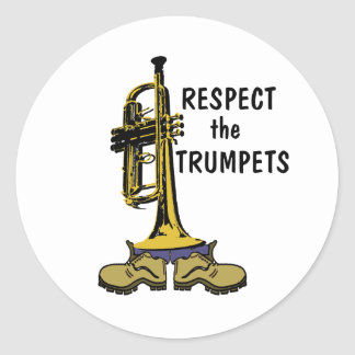 Respect the Trumpets Classic Round Sticker