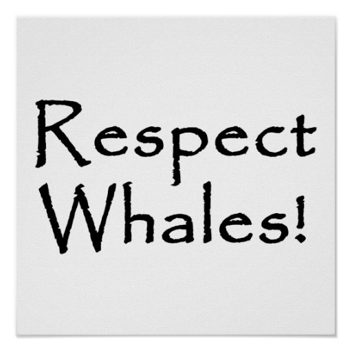 Respect Whales Posters