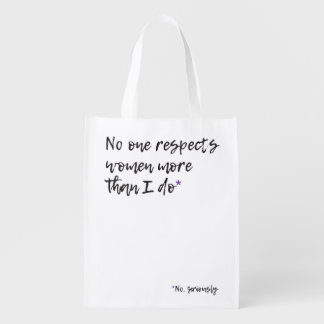 Respect Women Reusable Bag Grocery Bag