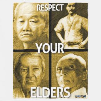 Respect Your Elders fleece blanket