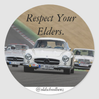 REspect your elders mercedes benz Classic Round Sticker