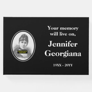 Respectable and Personalized Funeral Guest Book