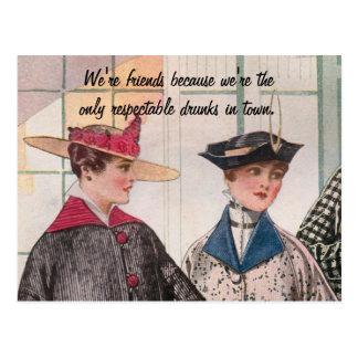 Respectable Drunks Postcard