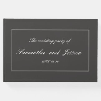 Respectable, Personalized Wedding Guest Book