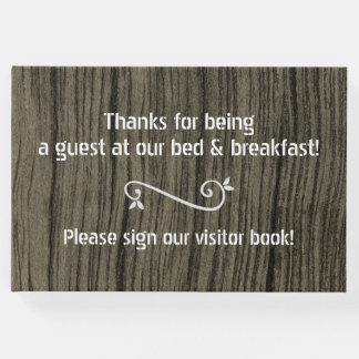 Respectable, Rustic B-and-B Guestbook