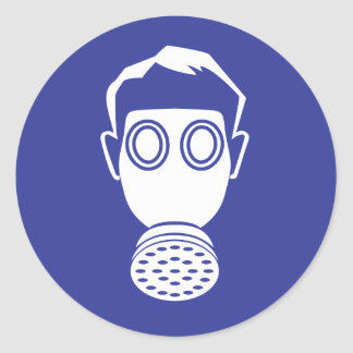 Respirator protection round sticker