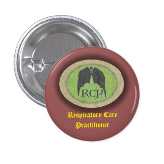 "Respiratory   ""Respiratory care practitioner""  ""Re 1 Inch Round Button"