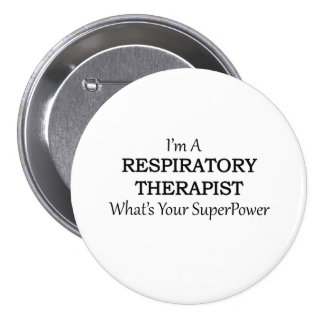 RESPIRATORY THERAPIST 3 INCH ROUND BUTTON