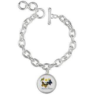 Respiratory Therapist Butterflies Charm Bracelets