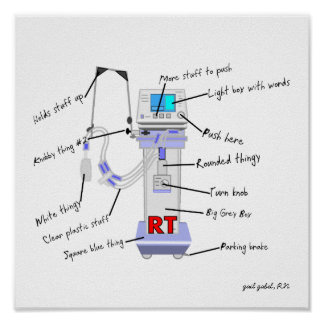 """Respiratory Therapist Funny Poster """"The Vent"""""""