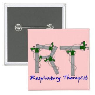 Respiratory Therapist Gifts O2 Tank Design 2 Inch Square Button