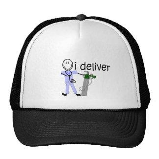 "Respiratory Therapist ""I Deliver""  (Oxygen) Mesh Hat"