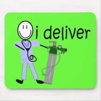 """Respiratory Therapist """"I Deliver""""  (Oxygen) Mouse Mats"""