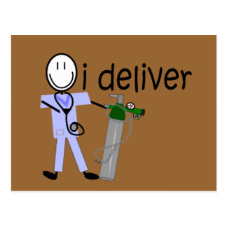 "Respiratory Therapist ""I Deliver""  (Oxygen) Postcard"