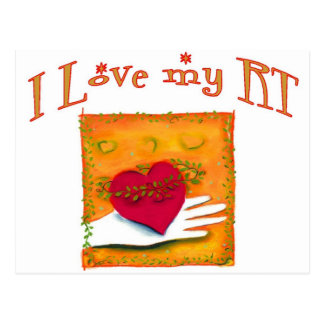 "Respiratory Therapist ""I LOVE MY RT"" Gifts Postcard"