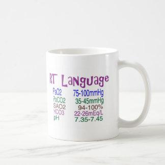 "Respiratory Therapist ""language"" Blood Gasses Classic White Coffee Mug"