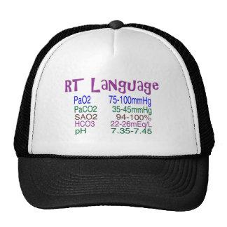"Respiratory Therapist ""language"" Blood Gasses Trucker Hat"