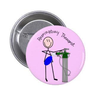 Respiratory Therapist O2 & Ambu Bag Design 2 Inch Round Button